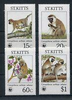 St. Kitts 184/87 postfrisch / WWF Meerkatzen .............................1/1177