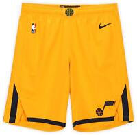 Utah Jazz Team-Issued Yellow Shorts from the 2019-20 NBA Season Size 40+1