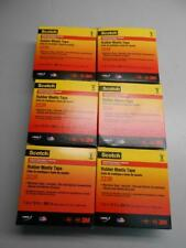 Lot Of 6 Scotch Rubber Mastic Tape 2228 1 In X 10 Ft Black New