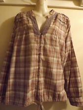 Ladies top tunic shirt blouse bnwot 22Long sleeved 100% cotton