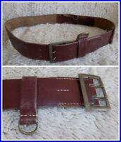 "Genuine Vintage Military Leather Belt~waist circumference from 33"" to 47"""