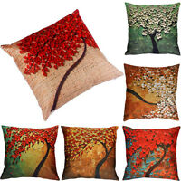 Vintage Pillow Case Flower Tree Waist Throw Cushion Cover Sofa Car Home Decor UK