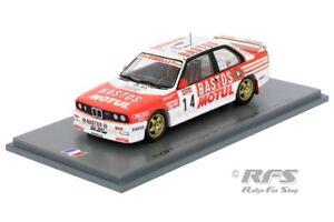 BMW M3 E30 BASTOS Rallye Tour de Corse 1989 Francois Chatriot 1:43 Spark SF 150
