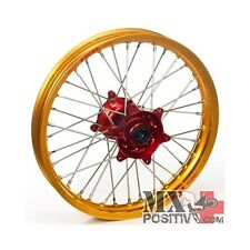 RUOTA COMPLETA HONDA CRF 450 R 2002-2013 HAAN WHEELS 1,60 - 21'' mozzo rosso/cer