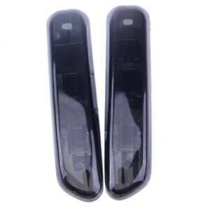2PCS Black Lens Side Marker Light Fit for BMW E46 4DR 99-01 & 2DR COUPE 99-03