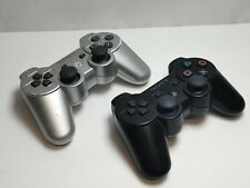 Sony PlayStation Dualshock 3 Controller Lot Silver Black CECHZC2U Tested PS3 OEM