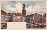 uralte AK Litho, Dresden, Altmarkt