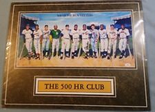 MLB 500 Home Run Club HOF ( 10 ) Signed Autographed Matted w/ HR NUMBERS w/ COA