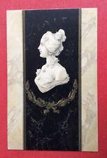 CPA. Illustrateur. 1901. Buste Femme. Style Kirchner. Art Nouveau. Marbre. 1