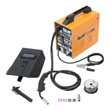 Wolf MIG 130 Portable Welder 230v DC No Gas Welding Gasless 50-120amp