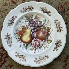 "Johnson Brothers Windsor Ware Harvest Fruit 10"" Dinner Plate"