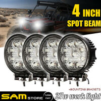 "4"" 27W LED WORK LIGHT Flood 4WD Offroad SUV for Truck Komatsu Excavator ATV UTE"