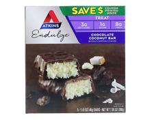 6 PACKS - ATKINS ENDULGE CHOCOLATE COCONUT BAR HEALTHY SNACK FOOD NUTRITIONAL