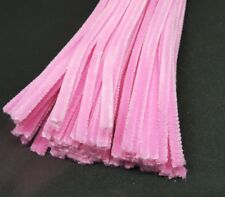 50 x Jumbo Premium Craft Pipe Cleaners Chenille tiges 300 mm x 6 mm-Rose