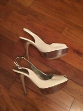 Ladies Marc Jacobs Shoes Size 7 Cream Leather 4 Inch Heels