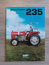 Original Traktor Massey Ferguson 235 Prospekt