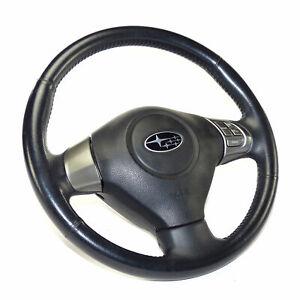 Subaru Impreza Gh Leather Steering Wheel Mfa With Airbag 34311AG250JC