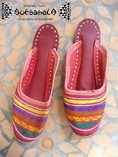 Ethno Nomad tribal Chaussures slipper Chaussures Cuir Cuir Inde Hippie Goa 36 37