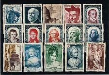 FRANCE ANNEE COMPLETE 1950 OBLITEREE COTE 103€