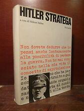 Storia Guerra Nazismo Biografia, H. Heiber: Hitler Stratega 1966 Mondadori 1a ed