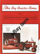 March 1987 issue of The Toy Tractor Times Magazine - Farm toy collectors