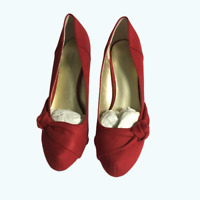 X Appeal Heels, Size 8.5, Red,  Barely Worn, X Apeal Womens Shoes