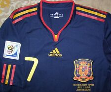 David Villa 7 España Mundial WC Final 2010 player issue Spain FORMOTION shirt M