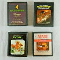 Vtg Atari 2600 Video Game Cartridge Lot Night Driver Vanguard Football Pinball