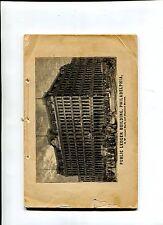 Vintage Booklet PUBLIC LEDGER BUILDING Hi Philadelphia 1867 opening construction