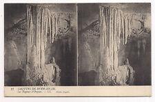 carte postale stéreo , grottes de bétharram , les tuyaux d'orgues