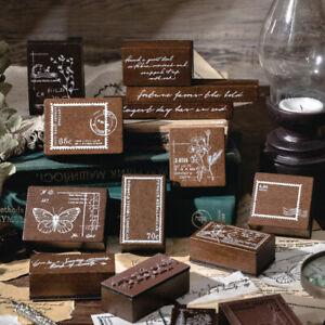 DIY Scrapbooking Photo Album Card Wooden Stamp Set Wooden Rubber St_da