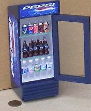 1:12 Scale Single Door Pepsi Cooler Dolls House Miniature Pub Drink Accessory