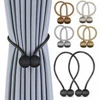 2 St. Magnetische Raffhalter Gardinenhalter Vorhanghalter Magnetverschluss