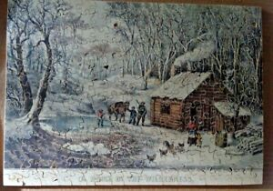 """J.K. Straus jigsaw puzzle """"Home in the Wilderness"""" over 225 pcs"""
