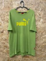 Vintage PUMA Big Classic Logo T Shirt Tee Green/Yellow | XL