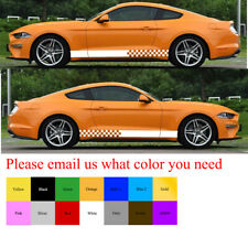 Graphic Decal Vinyl Side Rocker Stripes for Ford Mustang GT Racing 2000 - 2014