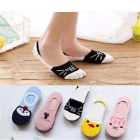 5Pair/Set Invisible No Show Nonslip Loafer Boat Low Cut Liner Women Cotton Sock