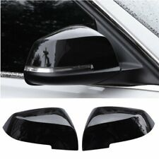 Gloss black Side Rearview Mirror Cover For BMW X1 F48 2016-19 1/ 2 Serie 2015-17