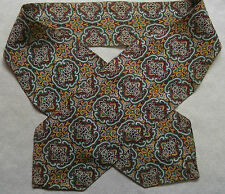 Ascot Cravat MENS Vintage Retro Casual Neckwear BURGUNDY GREEN PAISLEY