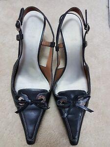 JOAN & DAVID Circa Comfort Slingbacks sandals - Black sz 8M