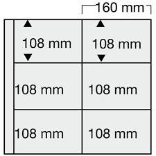 10 SAFE 6011 Ergänzungsblätter SCHWARZ Postkartenhüllen 6x 160x108mm