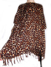 plus size leopard print Kaftan/cover up new fits plus size up to UK 24, new