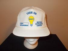 VTG-1990s Western Extralite Sylvania Light Bulb Osram rope strapback hat sku7