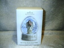 Hallmark Keepsake Joy to the World Snow Globe Angel Peace Joy Love Hope NIB