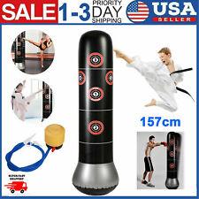 Inflatable Boxing Punching Kick Training Tumbler Bop Bag+Air Inflator Pedal Pump