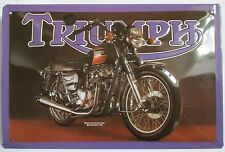 "TRIUMPH BONNEVILLE ""BONNIE"", Blechschild, Motorrad, NEU"