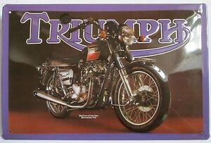 """TRIUMPH BONNEVILLE """"BONNIE"""", Tin sign, Motorcycle, NEW"""
