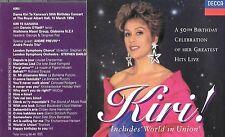 Cd KIRI TE KANAWA 50th birthday celebration of her live greatest hits