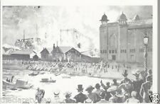Midlands Exhibition Ablaze Nottingham 1915  Reproduction Card Old Unposted PCrd