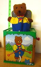 ERNEST Moody Bear tin toy Jack In the Box broken Schylling 1998 musical